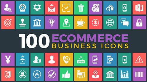 100-ecommerce-business-icon-set