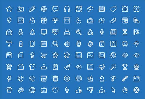 100-free-flat-app-icon-set