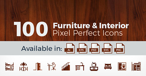100-Pixel-Perfect-Furniture-Vector-Icons-Collection