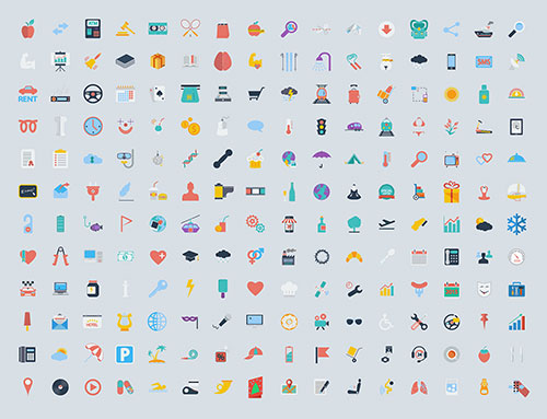 400-free-flat-icons-collection-for-graphic-designers
