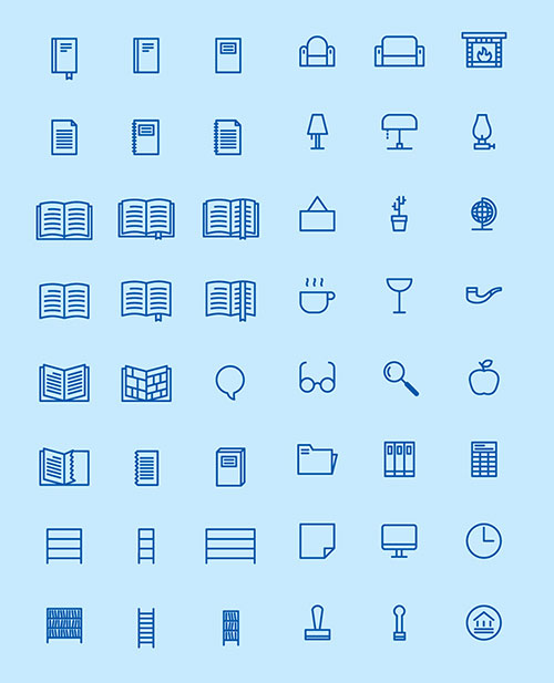 50-free-library-icons