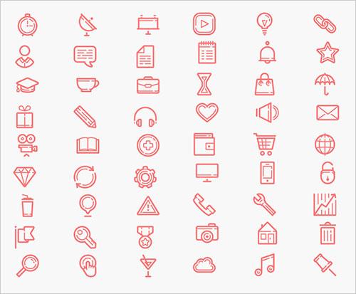60-free-beautiful-icons-set