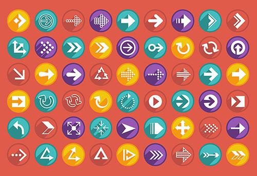 beautiful-arrows-free-icons-set