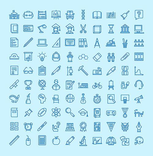 best-free-education-icon-set