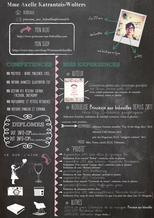 chalkboard-style-resume-template-for-graphic-artists