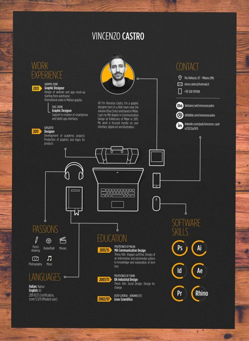 50 simple  u0026 creative resume  cv  design ideas    examples