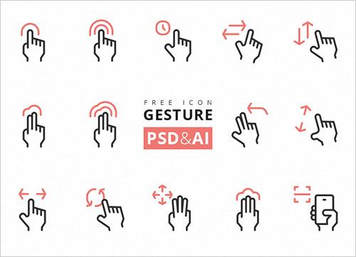 free-gesture-icon-set