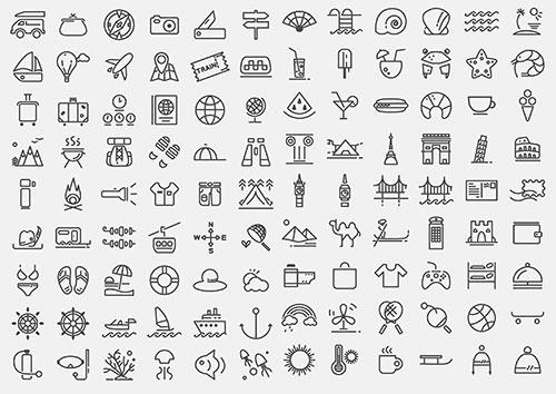 free-travelling-icon-set
