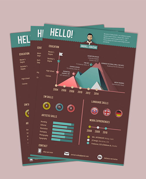 infographic-neat-resume-template-for-graphic-artists
