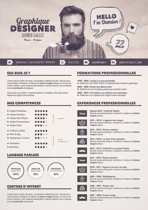 50 simple  u0026 creative resume  cv  design ideas    examples for 2017  u0026 beyond
