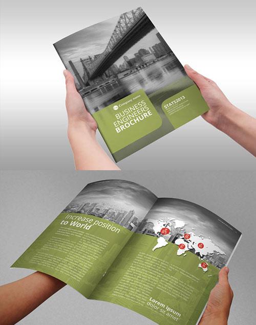 business-engineers-green-bi-fold-brochure-template