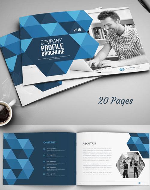company-annual-report-profile-bi-fold-brochure-design-template