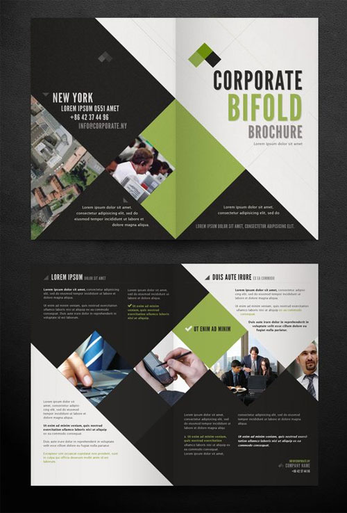 50 best bi fold brochure design templates inspiration for for Graphic design brochure templates