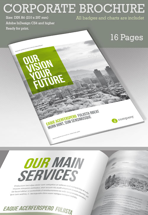 50 best bi fold brochure design templates inspiration for for Corporate bi fold brochure template