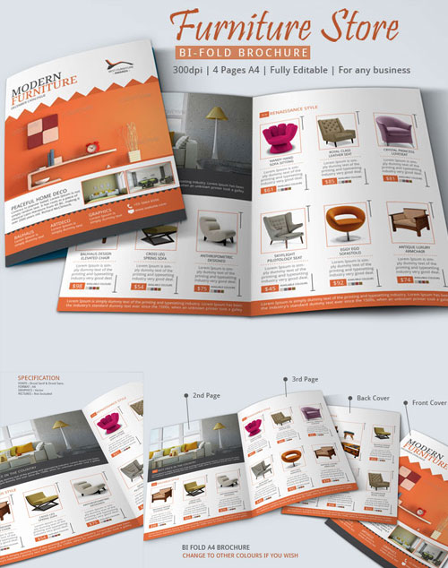 furniture brochure design inspiration - 50 best bi fold brochure design templates inspiration for