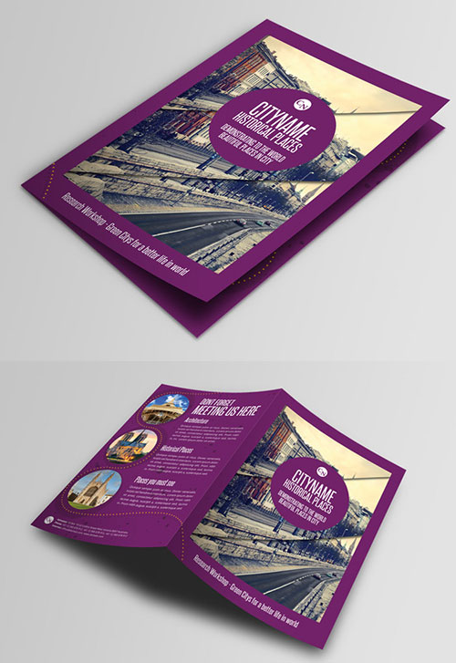 history-city-guide-template-bi-fold-brochure-design