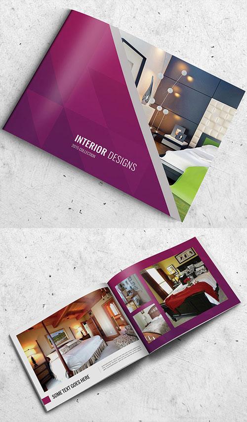 Interior Bi Fold Brochure Design Psd Template