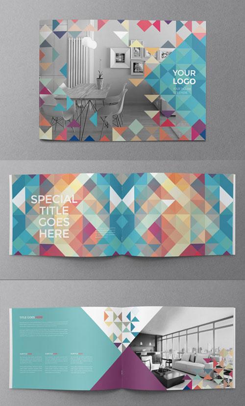 minimal-colorful-bi-fold-brochure-design-template