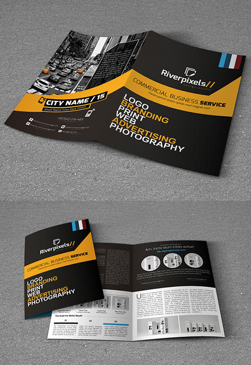 50 best bi fold brochure design templates inspiration for graphic modern a4 bi fold brochure template design accmission Choice Image