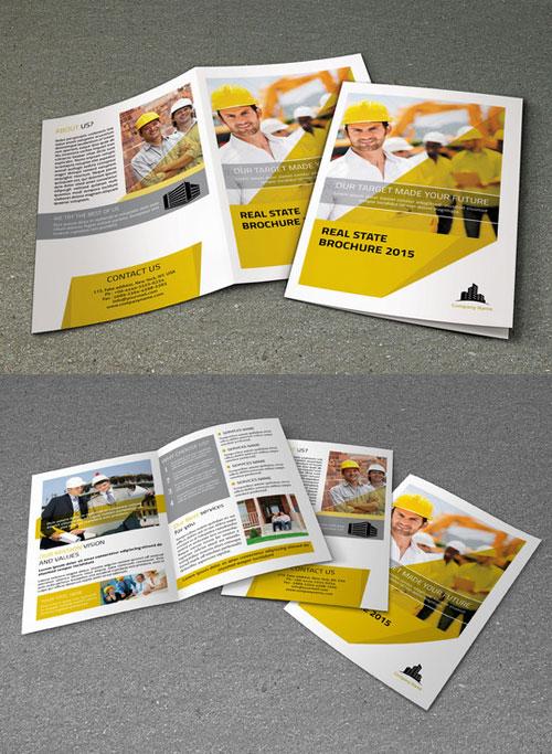 real-estate-bi-fold-brochure-template-design