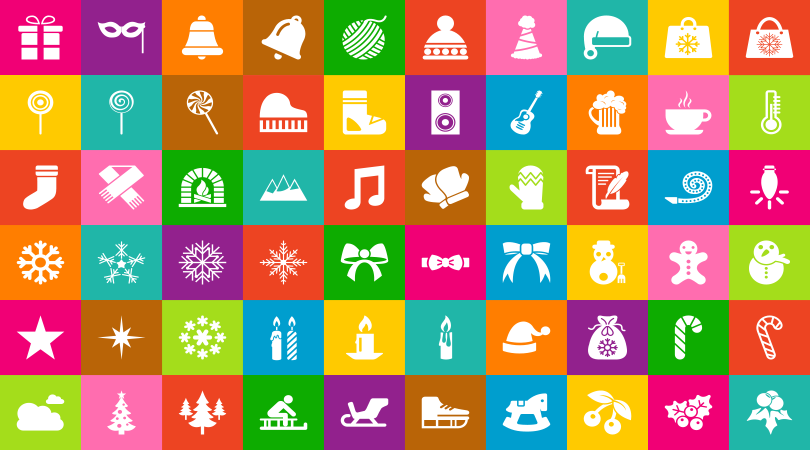 Free Flat Beautiful Christmas Icons in Vector Ai, EPS & PNG Format