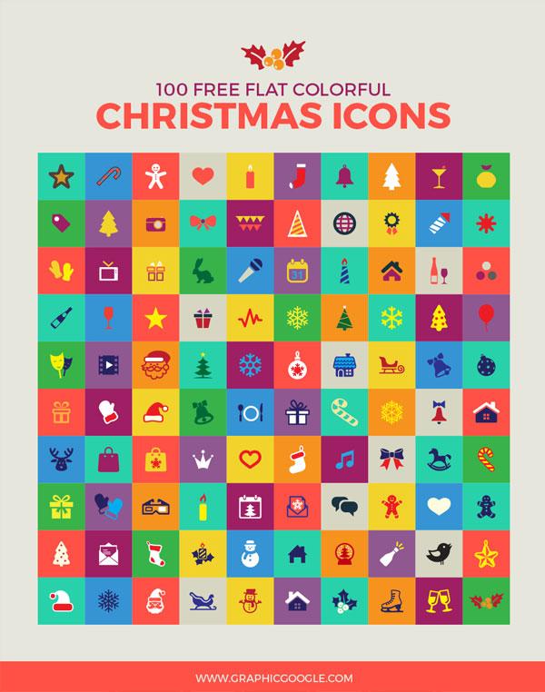 100-free-flat-colorful-christmas-icons