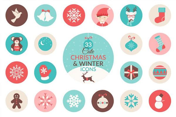 33-free-christmas-winter-icon-set
