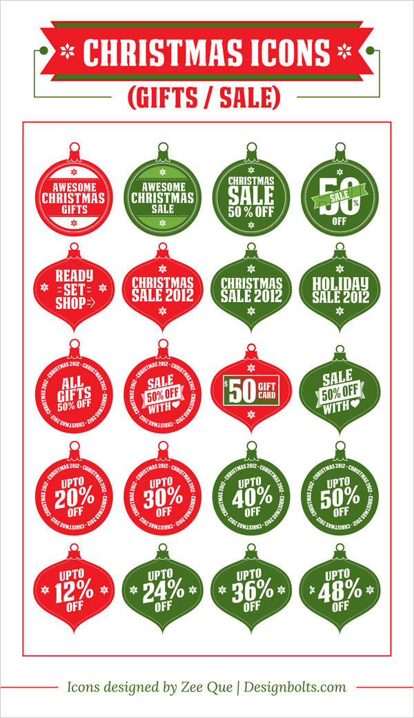 free-christmas-baubles-sale-gifts-icon-set