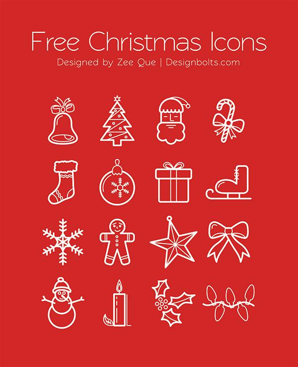 free-christmas-icons-set