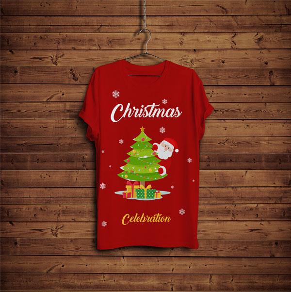 free-christmas-t-shirt-design-mock-up