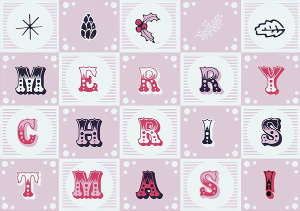 free-christmas-vector-letters-background