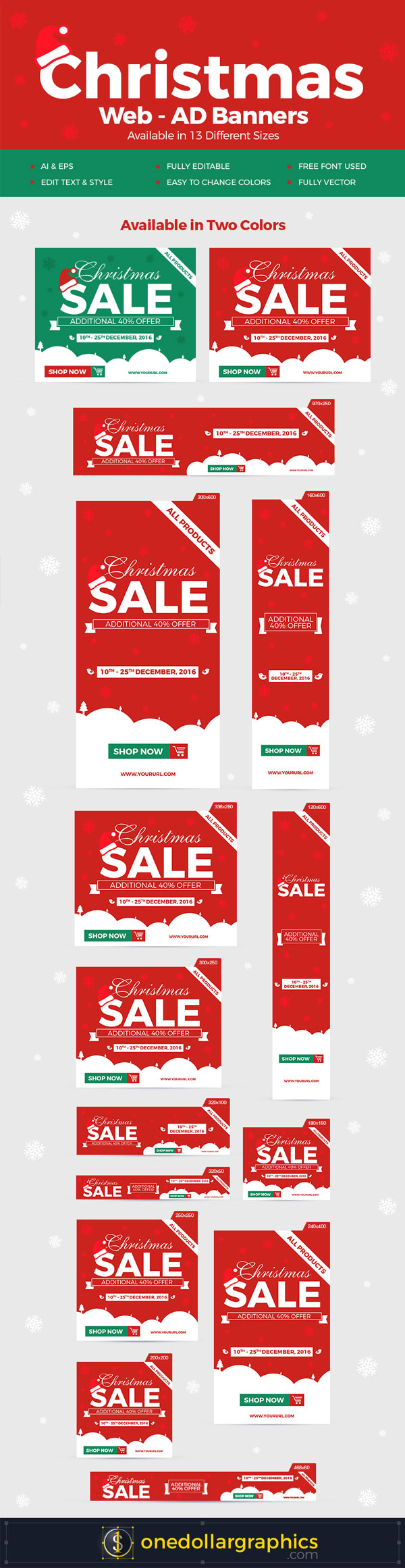 christmas graphic resources templates for designers  christmas web ad banners in vector ai