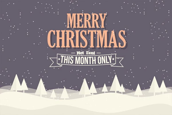 free-christmas-ecommerce-background-illustration-with-typography