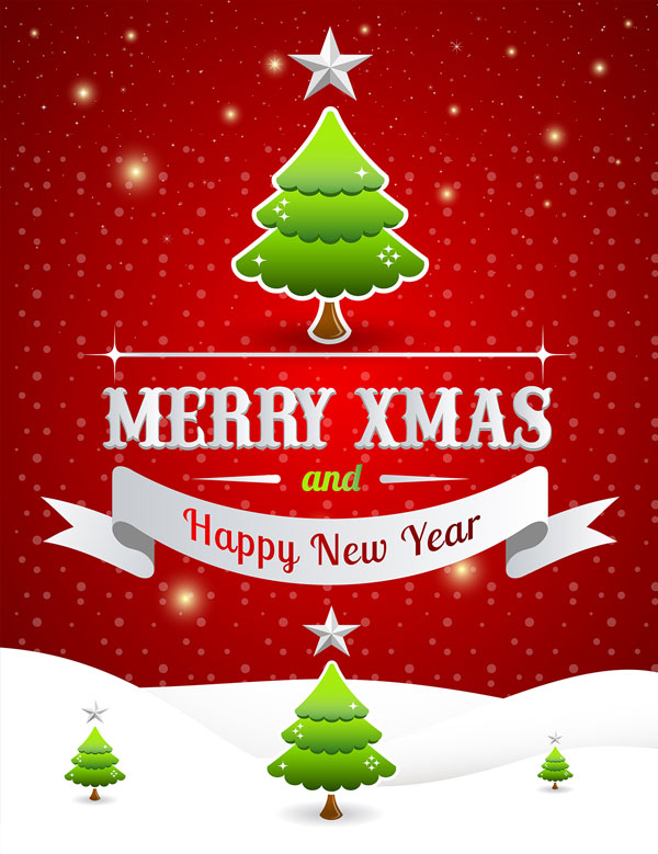 Free Merry Christmas Happy New Year Poster Template  Christmas Party Ticket Template Free