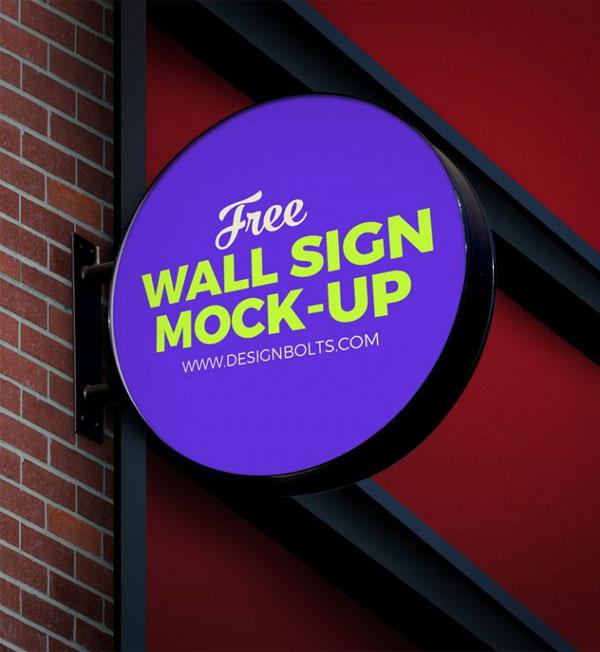 free-outdoor-advertising-circular-wall-sign-board-logo-mock-up-psd-file