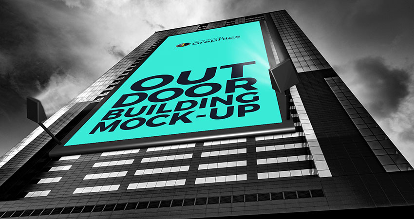 Free Outdoor Advertisment Building Billboard Mock Up Psd