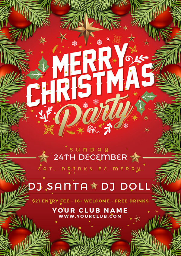 Free-Vector-Christmas-Party-Flyer-Design-Template-in-Ai-Format