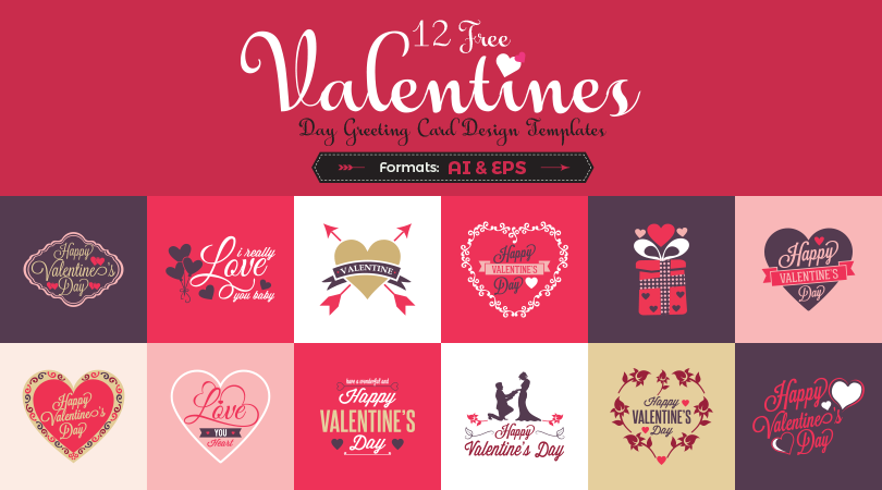12 free valentine s day greeting card design templates