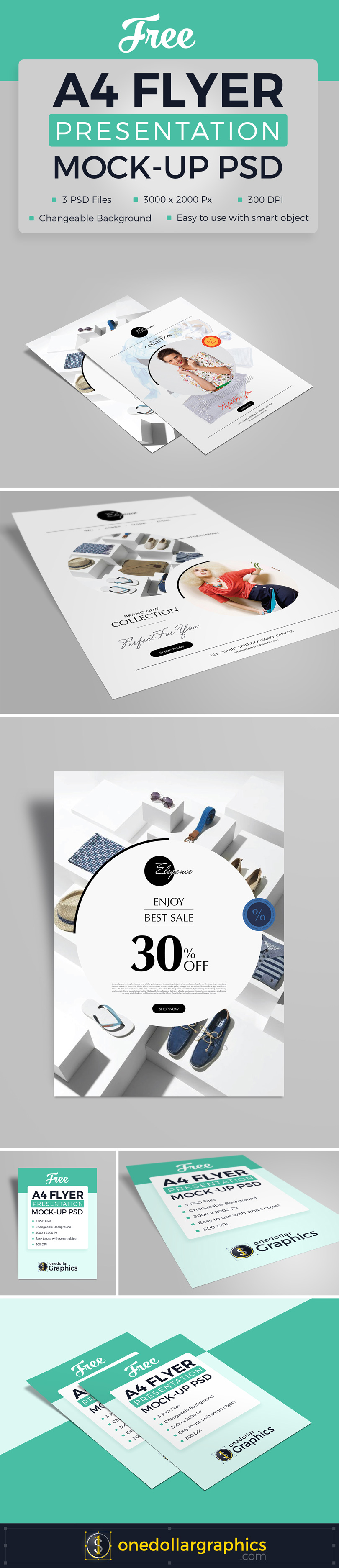 3 High Quality Free A4 Flyer Mockup PSD Files-1