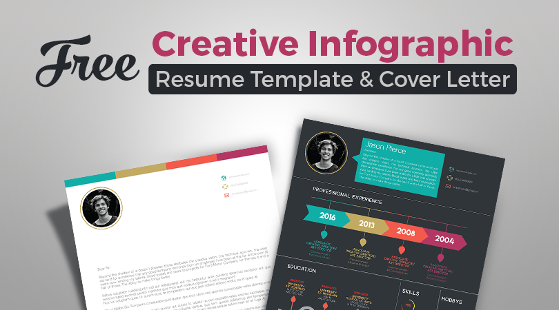 Free Creative Infographic Resume Template With Cover Letter INDD File-1