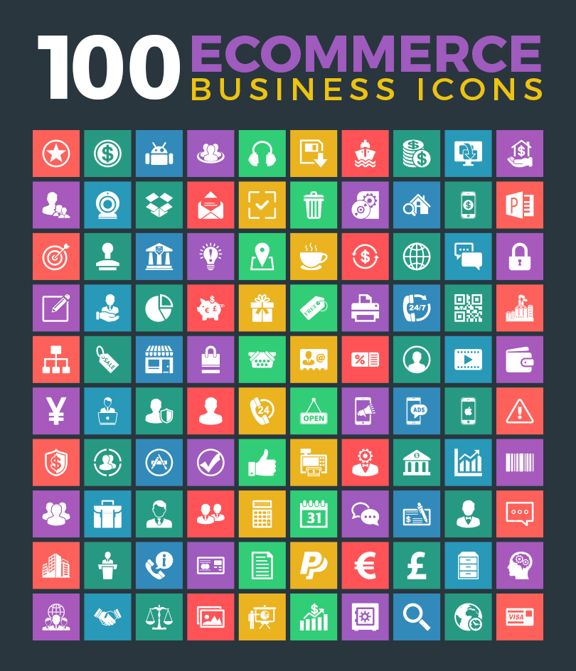 100-ecommerce-business-icons