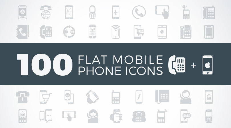 100-flat-mobile-phone-icons-feature-image