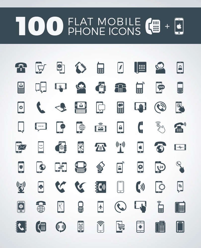 100-flat-mobile-phone-icons