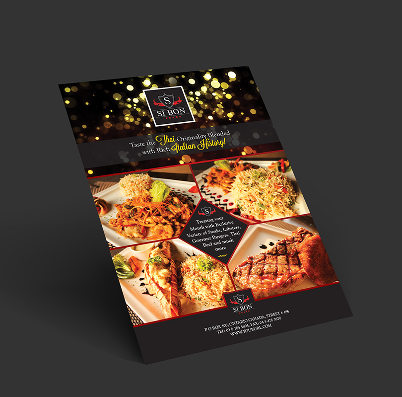 HotelRestaurant Flyer Design Template  One Dollar Graphics