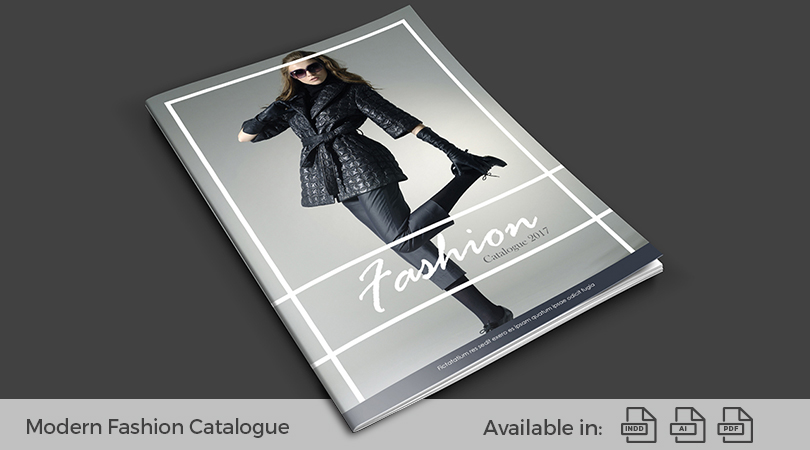 modern fashion catalogue design template