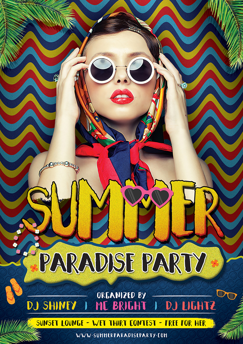 summer-paradise-party-flyer-template-design