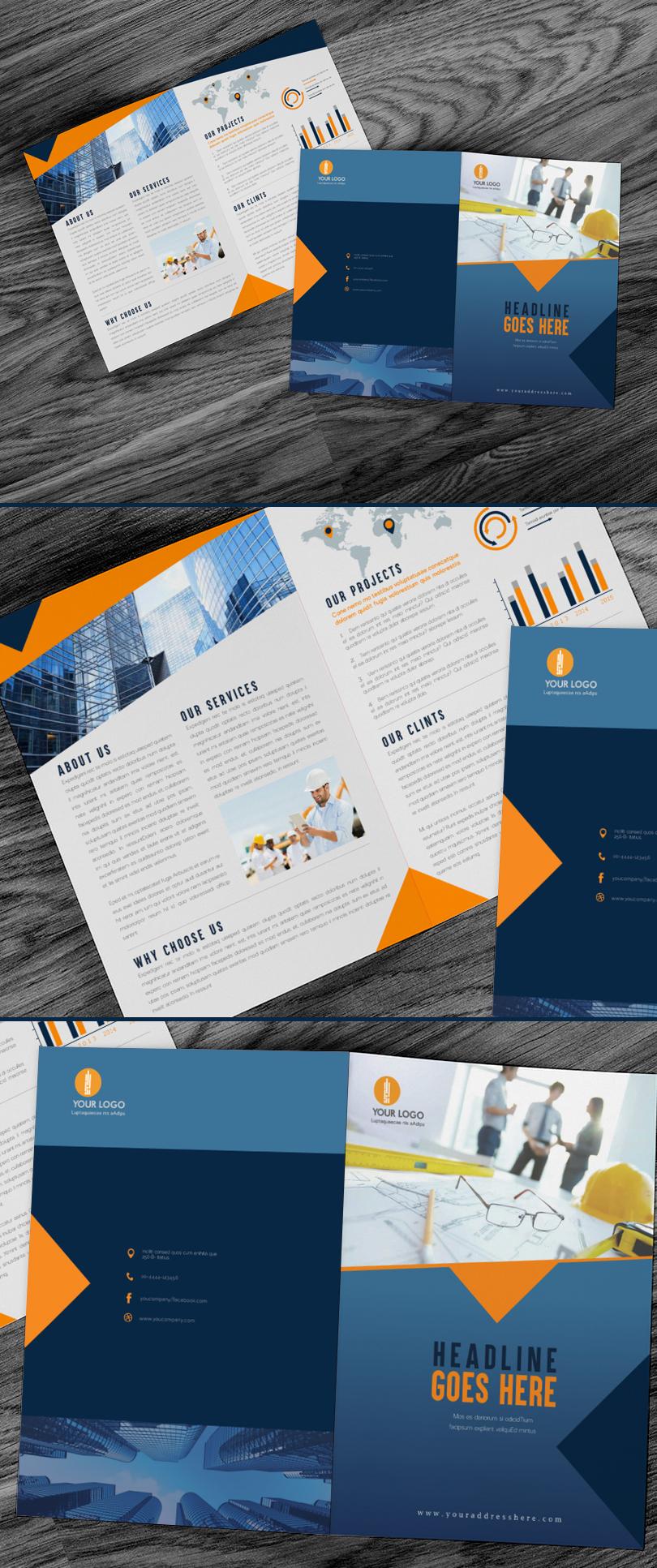 bi-fold-construction-brochure-design-template