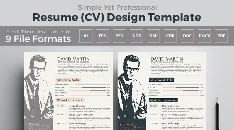 simple-yet-professional-resume-cv-design-template-feature-image
