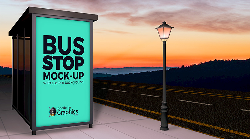 beautiful-outdoor-advertising-bus-stop-shelter-mock-up-psd