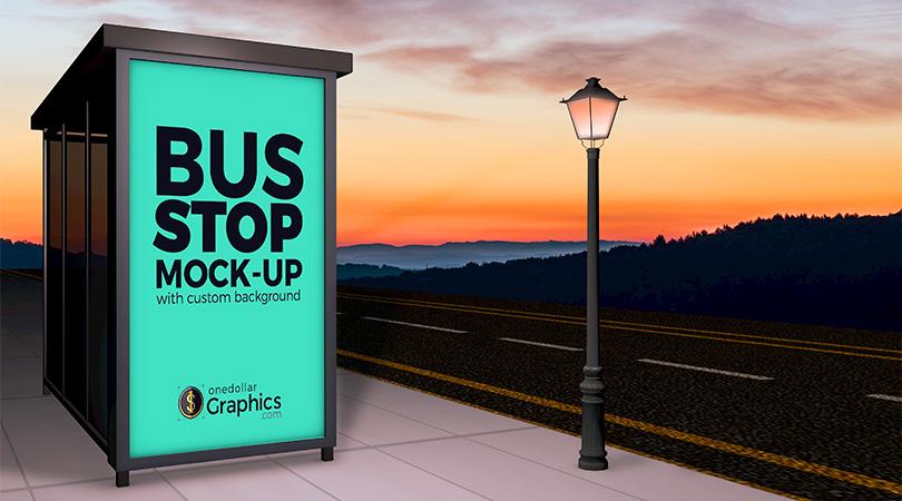 beautiful-outdoor-advertising-bus-stop-shelter-mock-up-psd